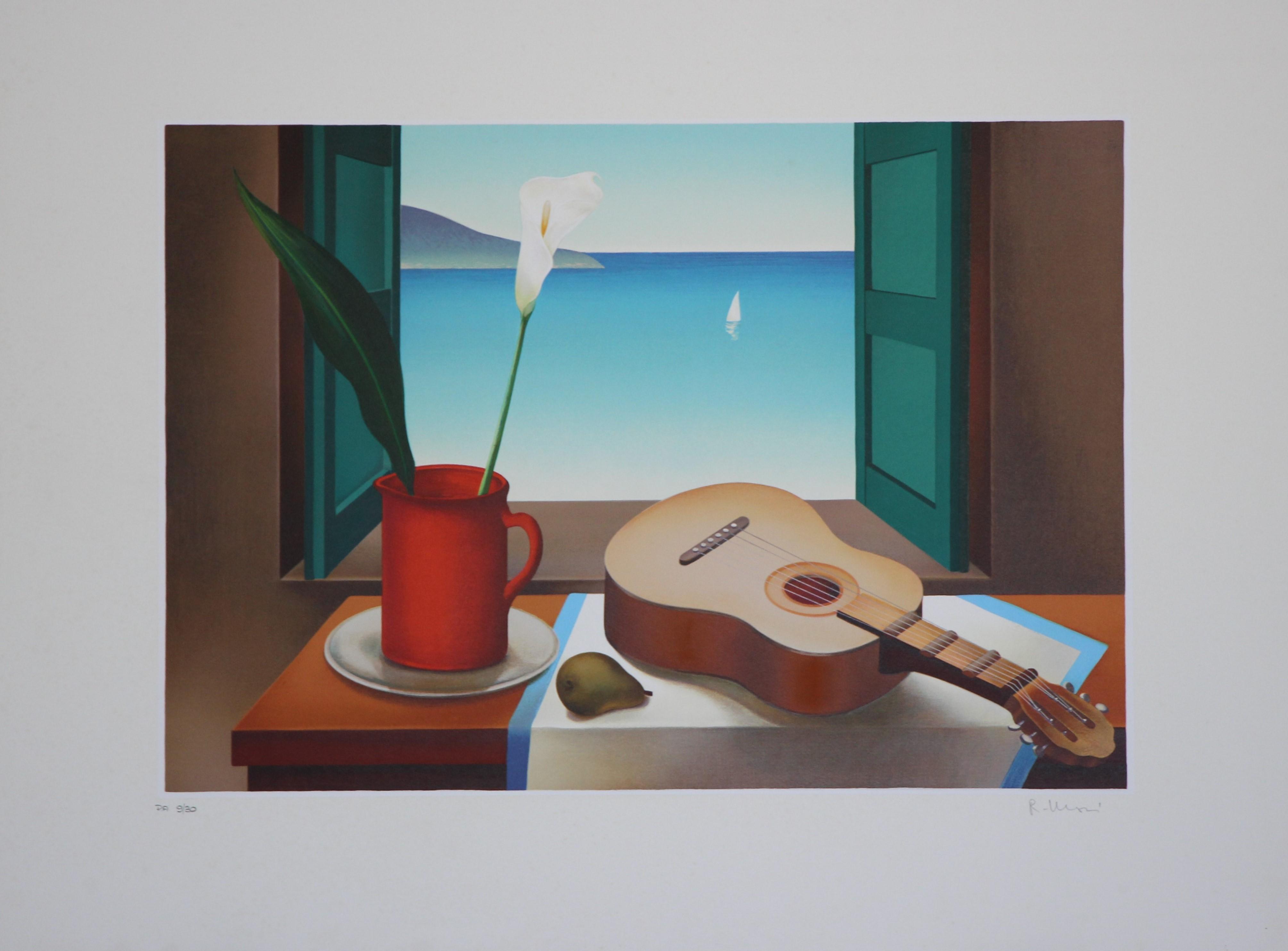 """""""Vista sul mare"""" serigrafia  cm. 50x70"""