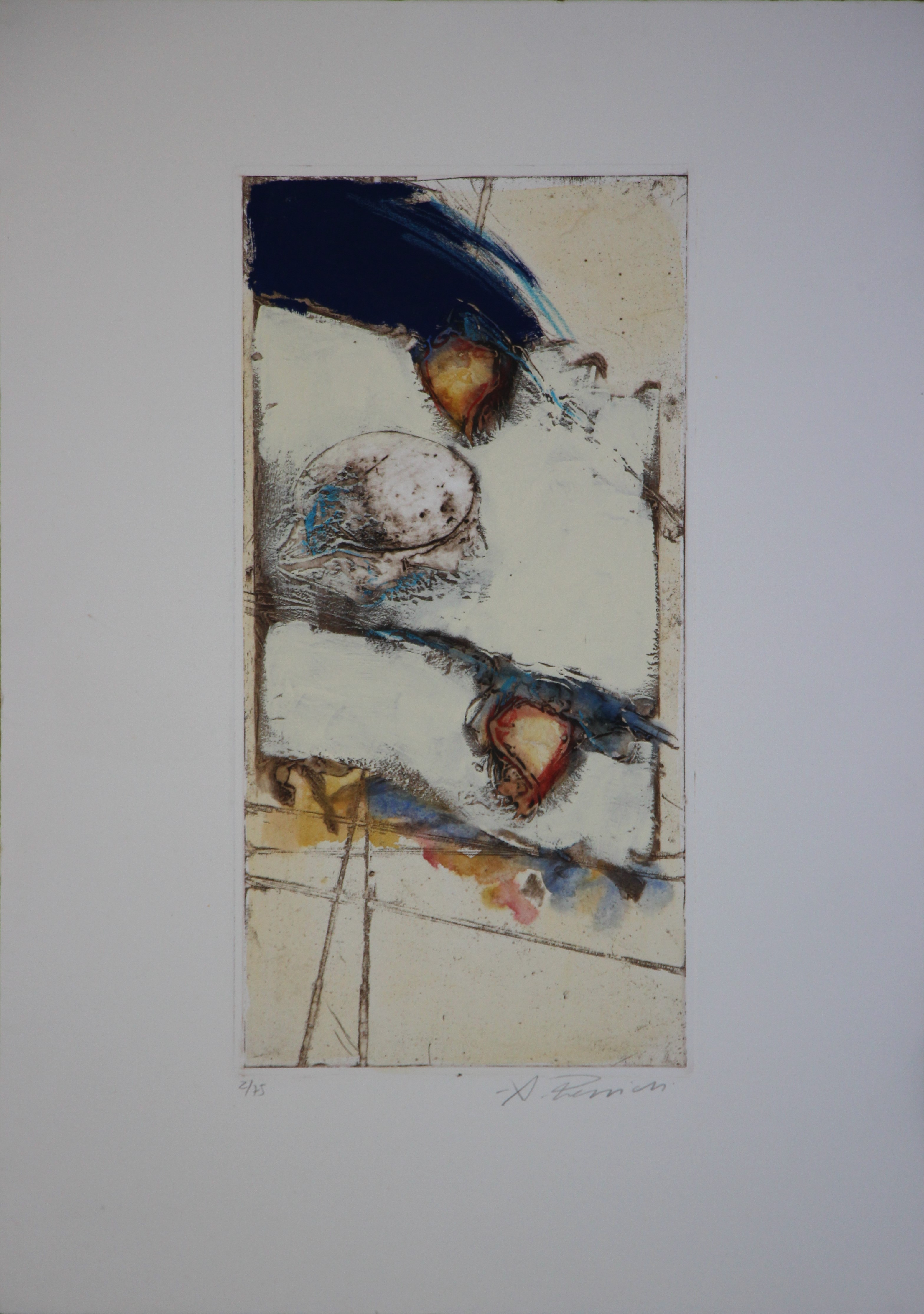 """""""Fiori"""" serigrafia polimaterica cm. 50x70"""
