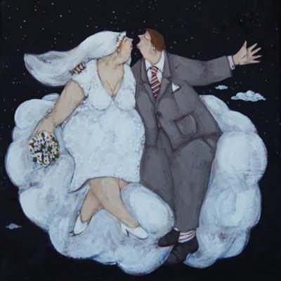 """""""Sposi sulle nuvole"""" disponibili nei formati 10x10  18x18   30x30  50x50"""