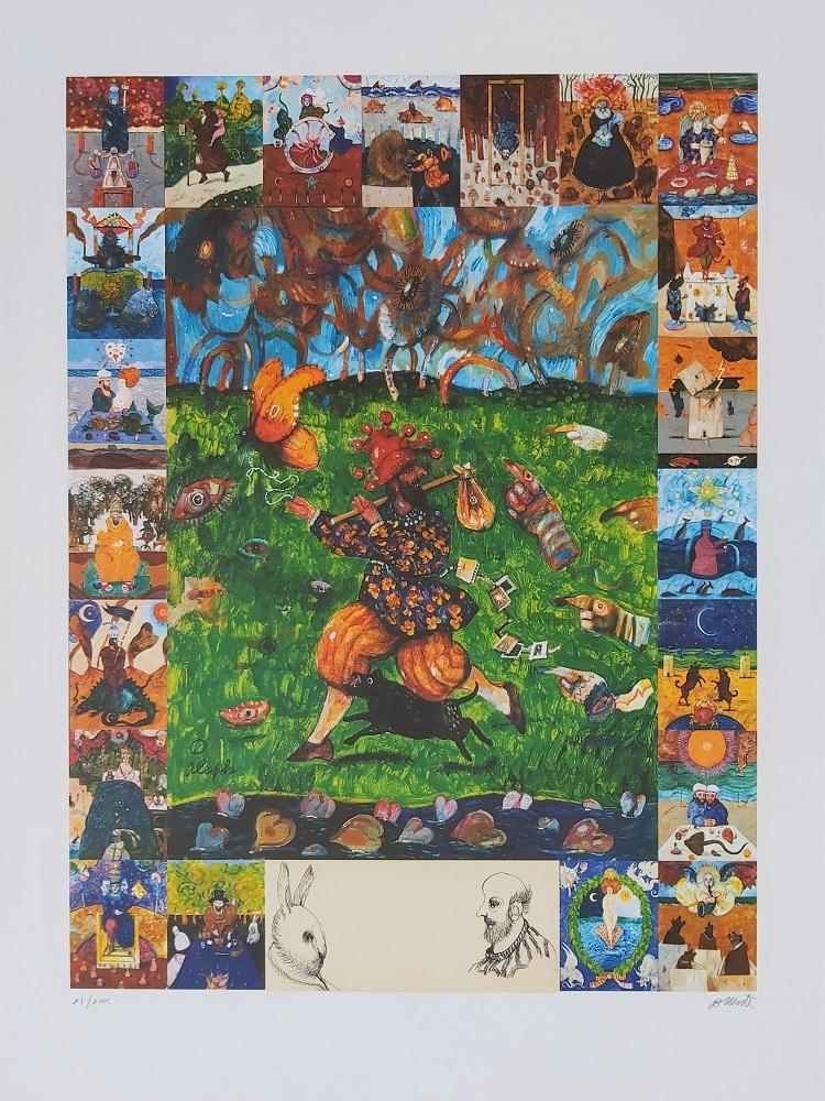 """""""Storie di un viaggiatore"""" litografia cm. 80x60"""