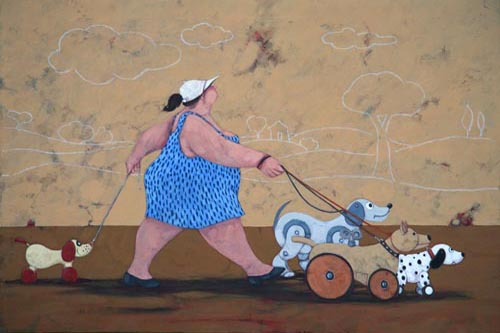 """The toy dog sitter"" disponibili nei formati  12x18  25x35  50x70"
