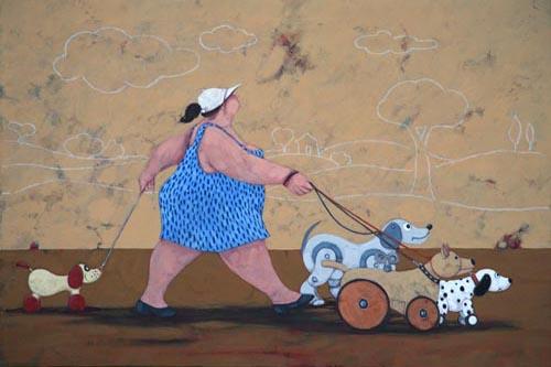"""The toy dog sitter"" disponibili nei formati  12x18  25x35  50x70"
