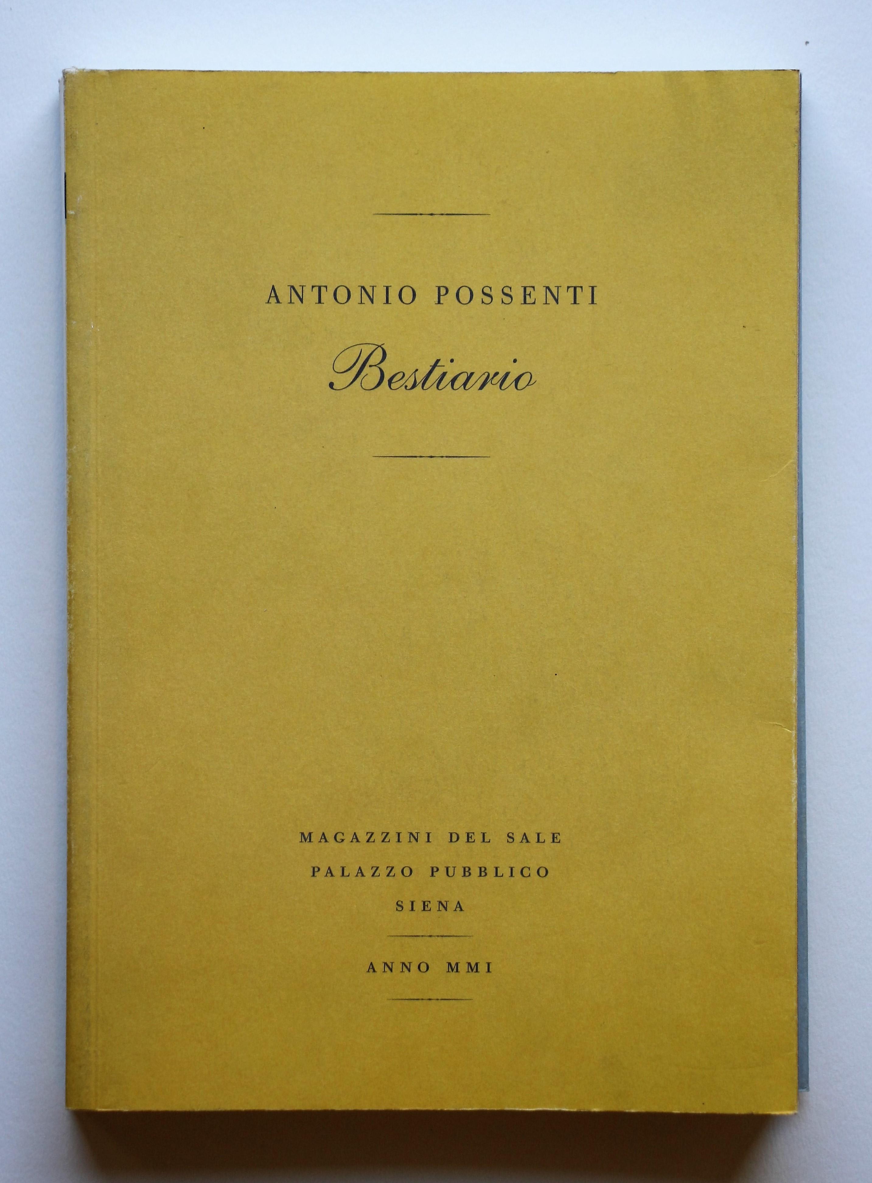 """""""Bestiario"""" anno 2001 pagine 314  cm. 23x16,3"""