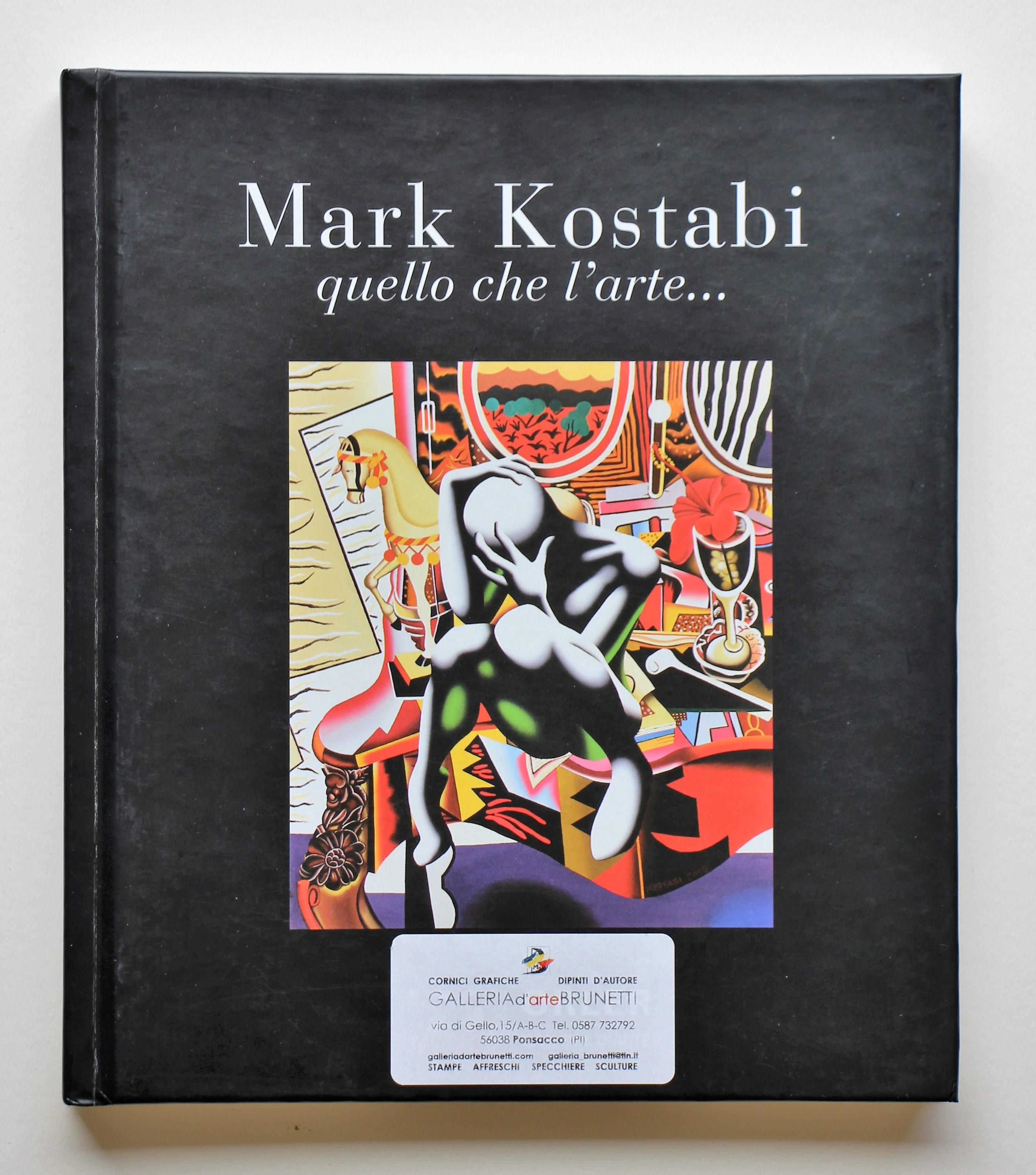 """""""Mark kostabi quello che l'arte..."""" anno 2005 cm. 23,2x20,2"""