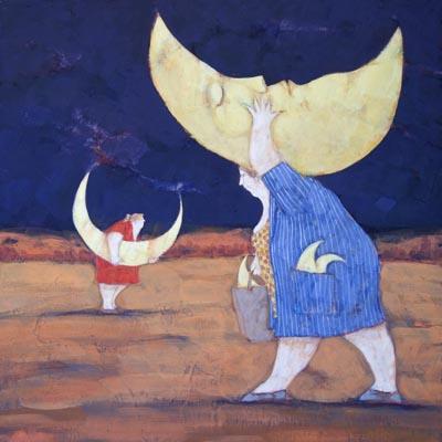 """""""Trafficanti di lune fasulle"""" disponibili nei formati 10x10  18x18   30x30  50x50"""