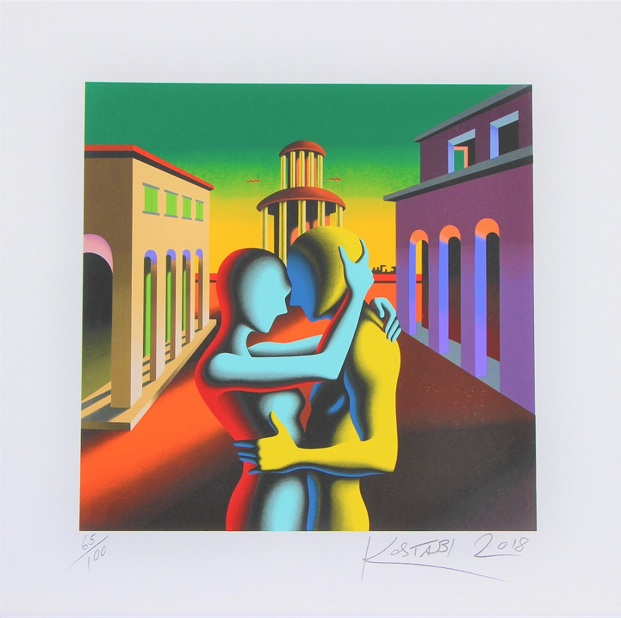 """Twilight embrace"" serigrafia cm. 70x70"