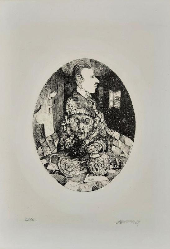 """""""Una stanza"""" litografia cm. 50x35"""