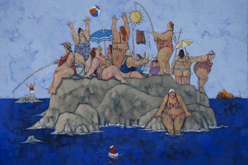 """""""Vacanze all'isola delle donne"""" disponibili nei formati  12x18  25x35  50x70"""
