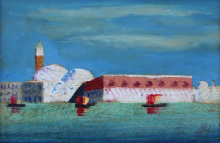 """""""Venezia"""" dipinto su tavola cm. 20x30"""