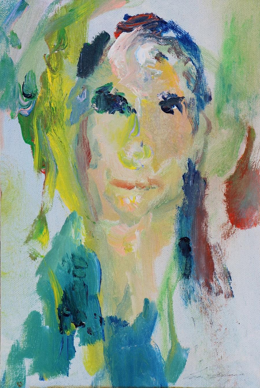 """""""Volto"""" olio su tela cm. 20,5x30,5 - 1997"""