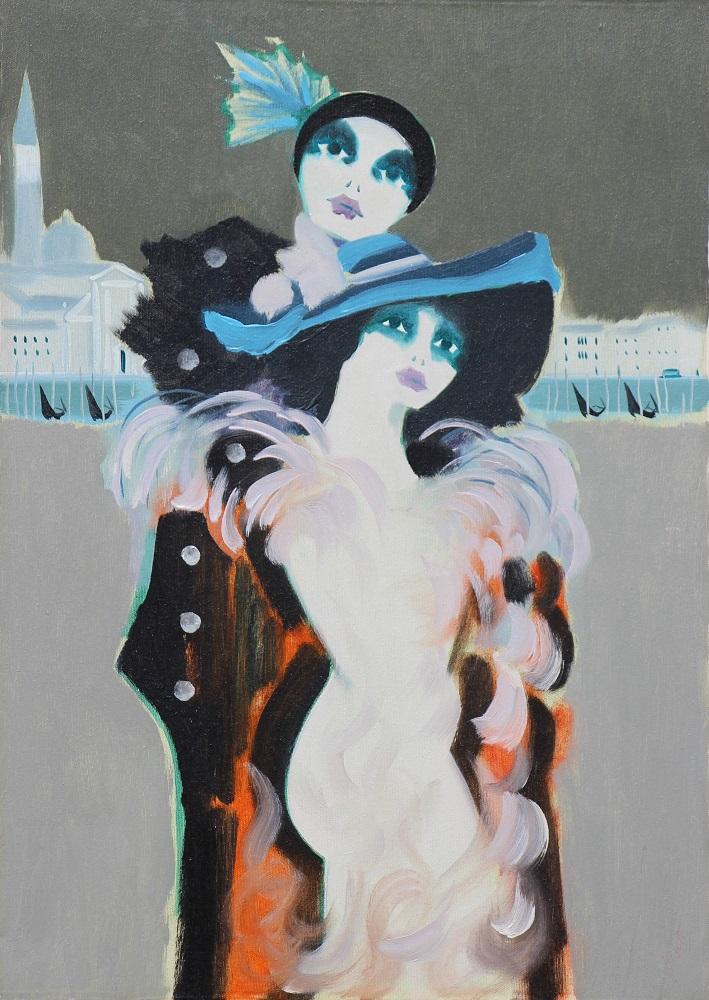 """""""Venezia"""" olio su tela cm. 50x70"""