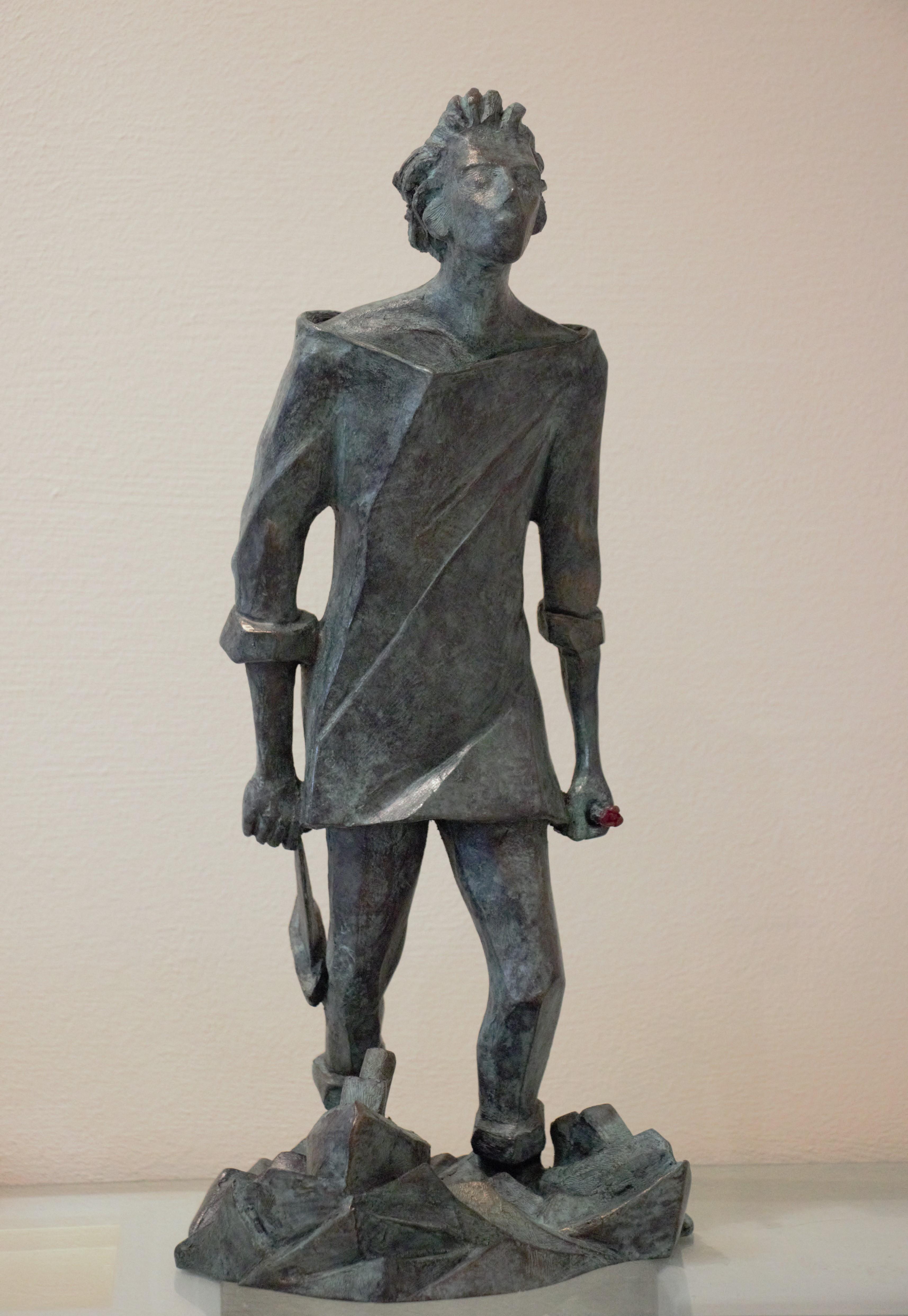 """""""L'uomo che salva il mare"""" bronzo tiratura 75 esemplari - Altezza cm. 42,5"""