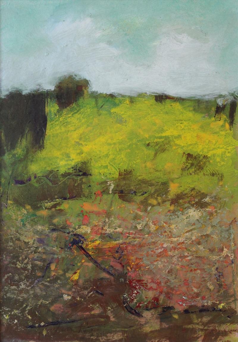 """""""Paesaggio"""" olio su tavola 34x50 1985"""
