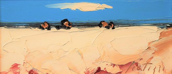 """""""Paesaggio"""" olio su tavola cm. 15x32"""