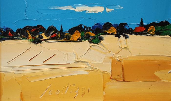 """""""Paesaggio"""" olio su tavola cm. 18x29"""