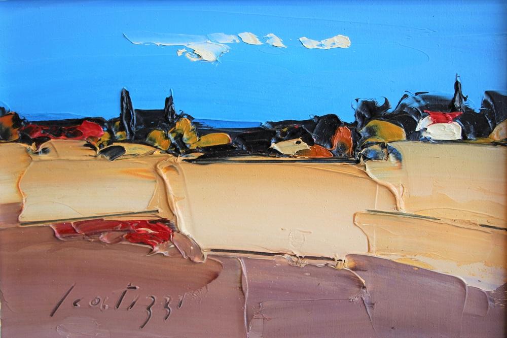 """""""Paesaggio"""" olio su tavola cm. 20x29"""
