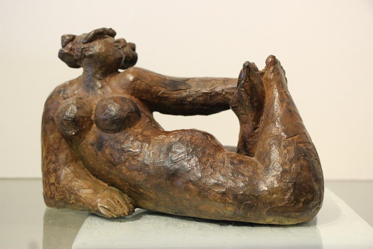 Scultura Donna bronzo tiratura pezzo unico altezza cm.13 base cm. 19