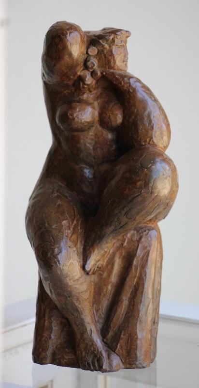 Scultura Relax bronzo tiratura pezzo unico altezza cm. 38 base cm. 19