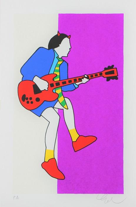 """Angus"" serigrafia cm. 30x20"