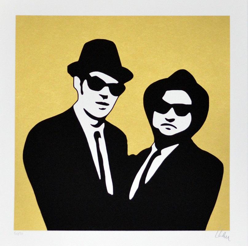 """Blues brothers"" serigrafia cm. 70x70"