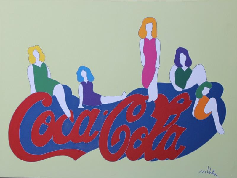 """""""Coca Cola"""" smalto su tela cm. 90x120"""