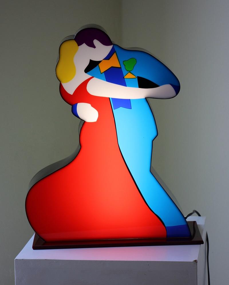 """""""Ballerini"""" scultura in perspex luminosa da tavolo cm. 47x45x12"""