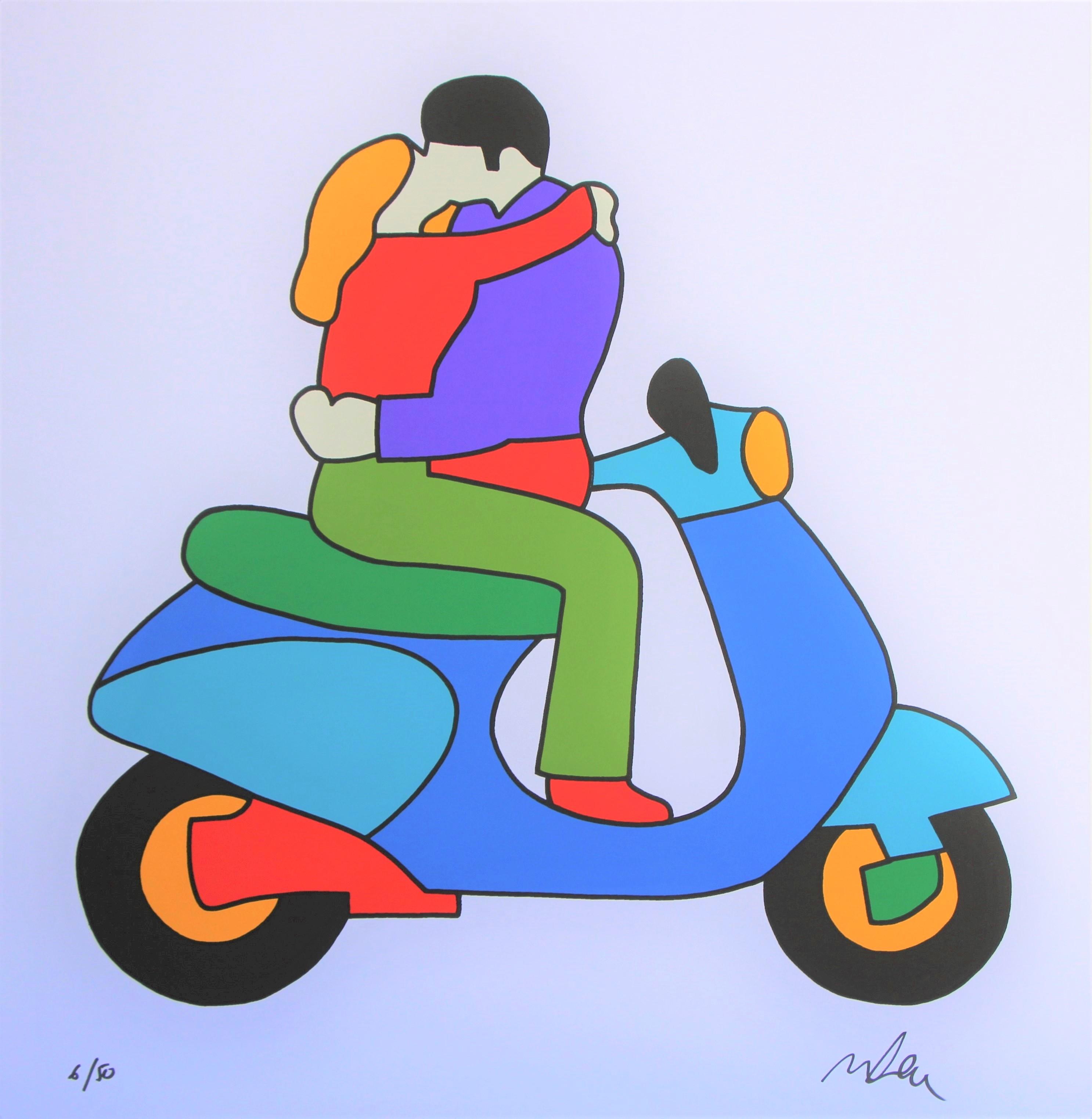 """""""Lovers"""" serigrafia cm. 81x81"""