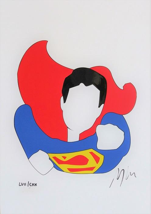 """""""Superman"""" serigrafia materica cm. 21x29,5"""