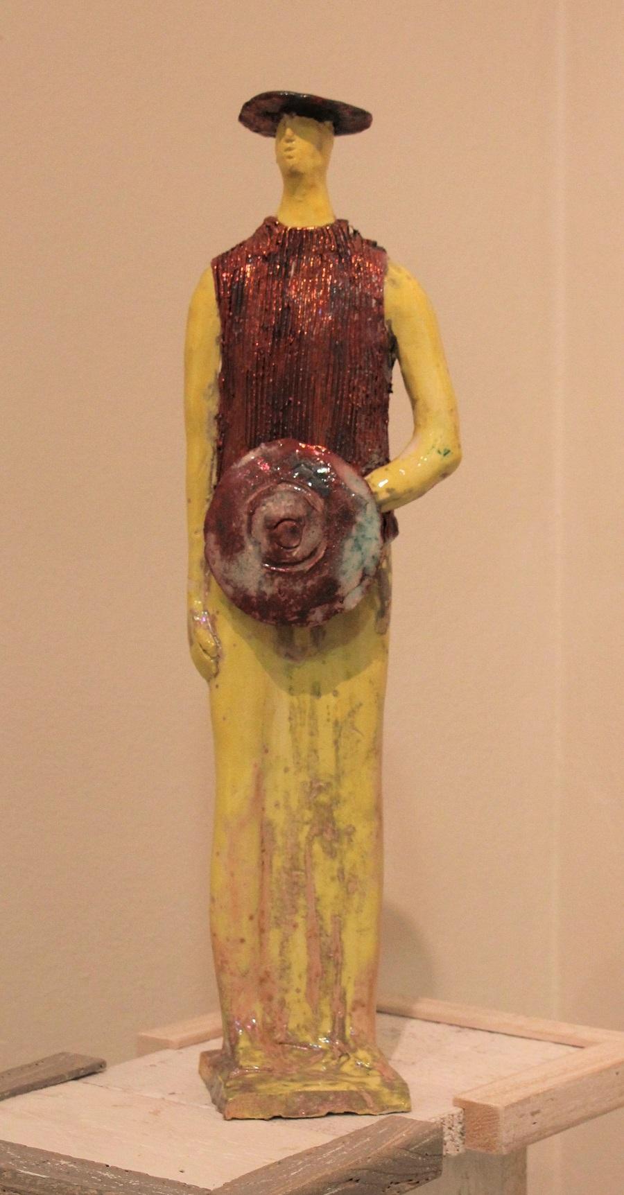 """""""Guerriero"""" ceramica pezzo unico - Altezza cm. 50"""