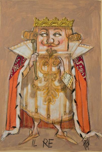 """Il Re"" olio su tavola cm. 36,5x25"