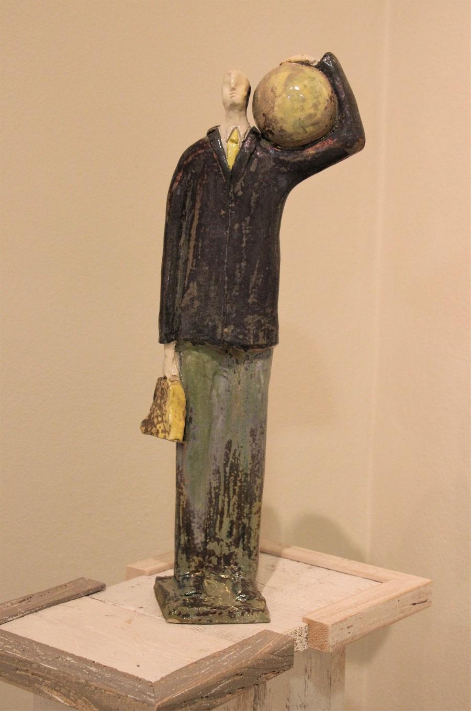 """""""Viaggiatore"""" ceramica pezzo unico - Altezza cm. 50"""