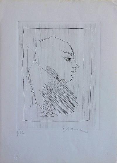 """""""Volto"""" incisione cm. 50x35"""