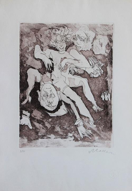 """""""Il selvaggio"""" incisione cm. 50x35"""