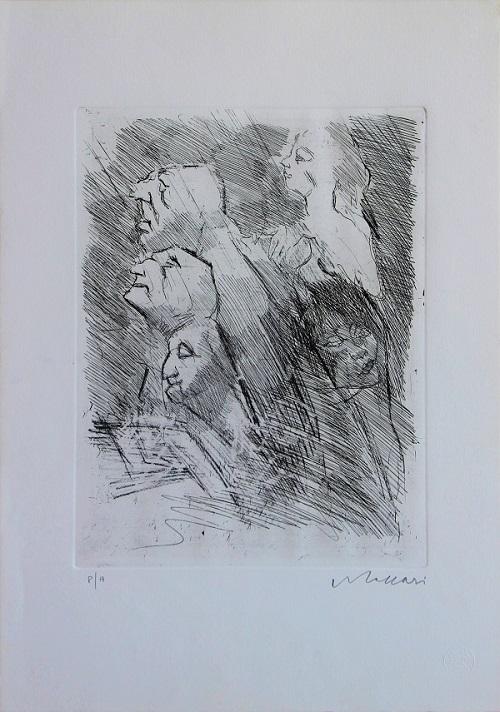 """""""Composizione di figure"""" incisione cm. 50x35"""