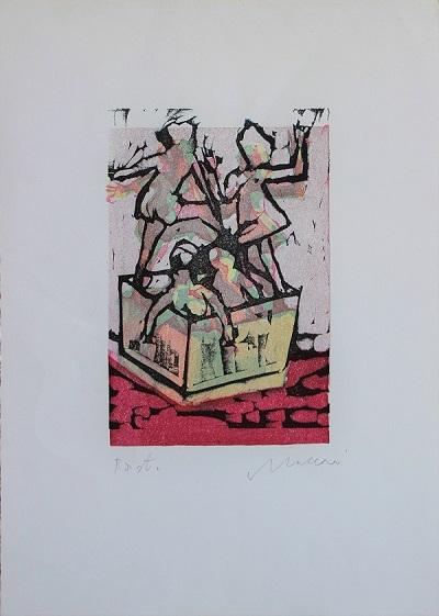 """""""Ballerine del varietà"""" litografia cm. 50x35"""