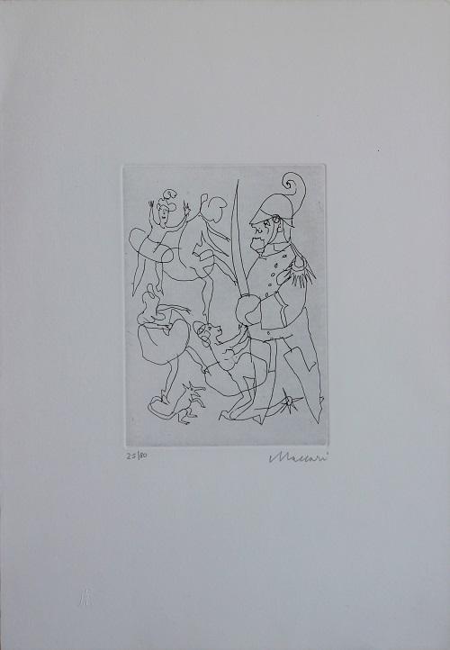 """""""Il carabiniere"""" incisione cm. 50x35"""