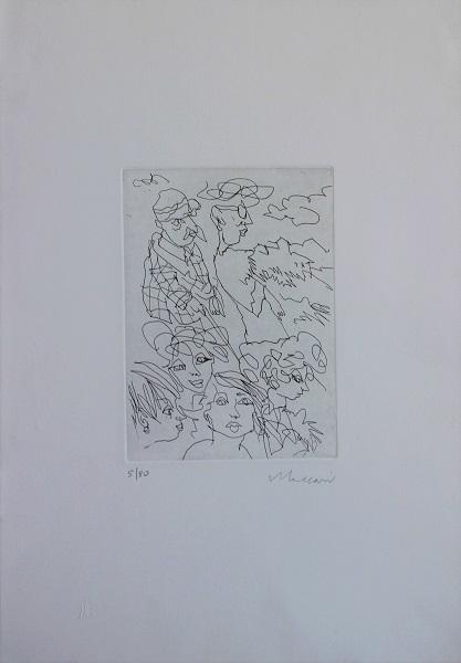 """""""Il maestro e le modelle"""" incisione cm. 50x35"""