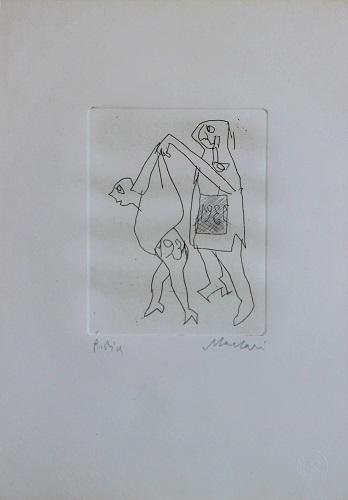 """""""Il curioso"""" incisione cm. 35x25"""