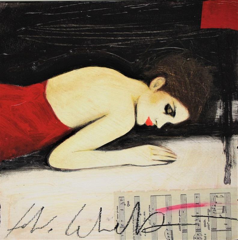 """""""Concerto"""" dipinto su tavola cm. 30x30"""