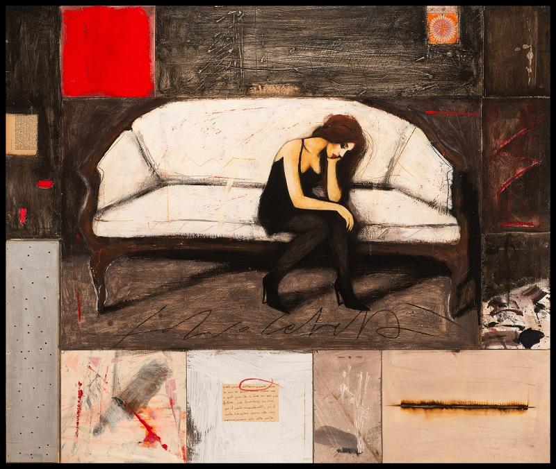"""""""Diary"""" dipinto su tavola cm. 110x130"""