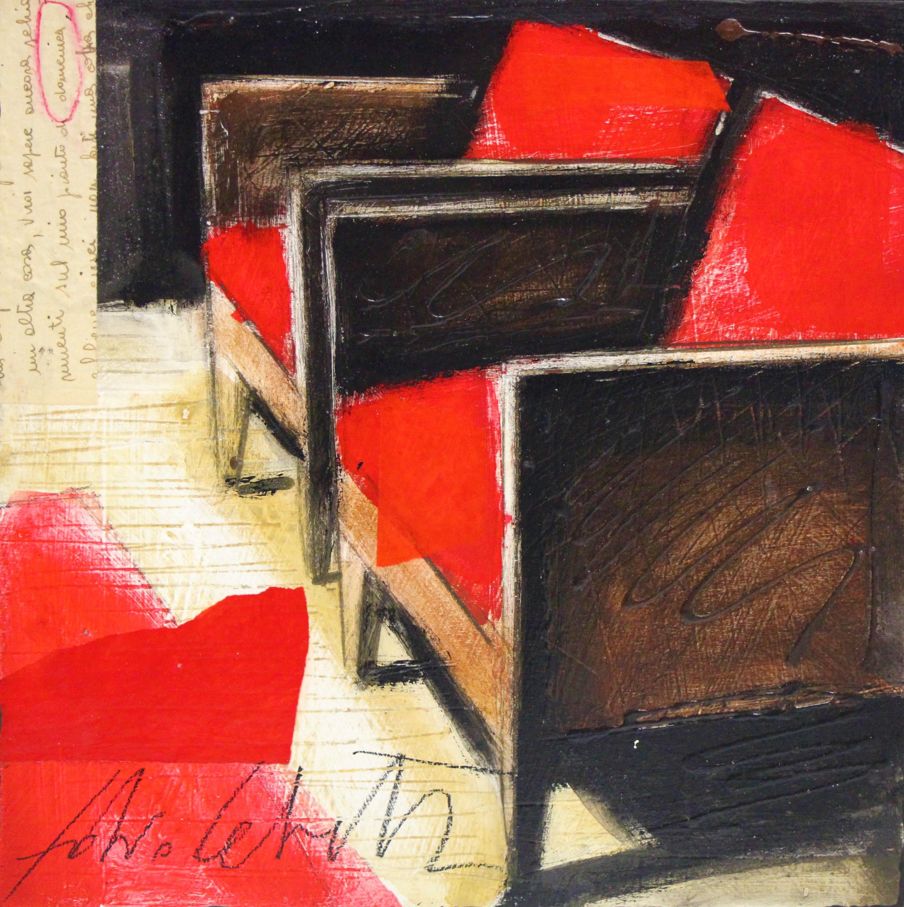 """Domenica"" dipinto su tavola cm. 30x30"