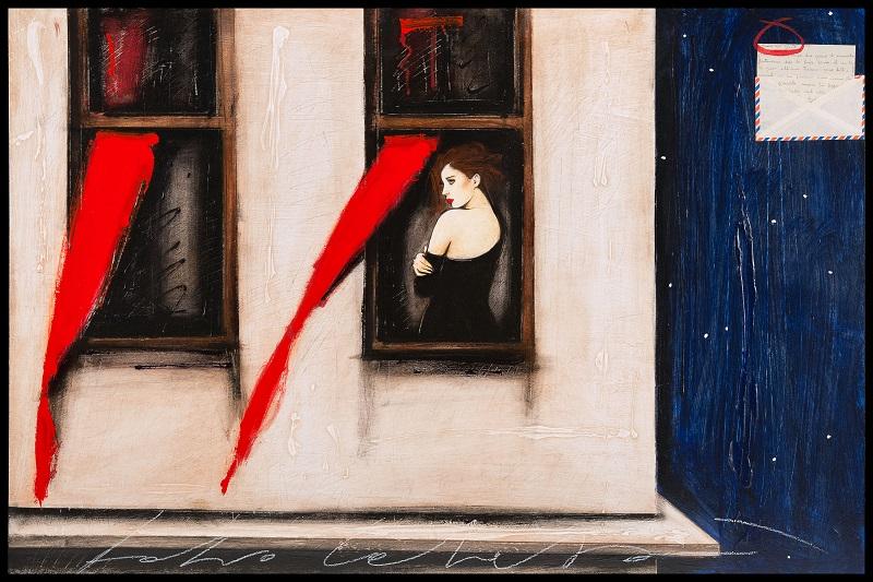 """""""Il profumo delle stelle"""" dipinto su tavola cm. 80x120"""