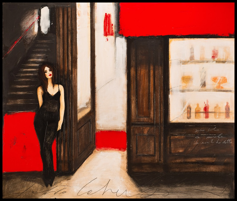 """Io cerco te"" dipinto su tavola cm. 110x130"