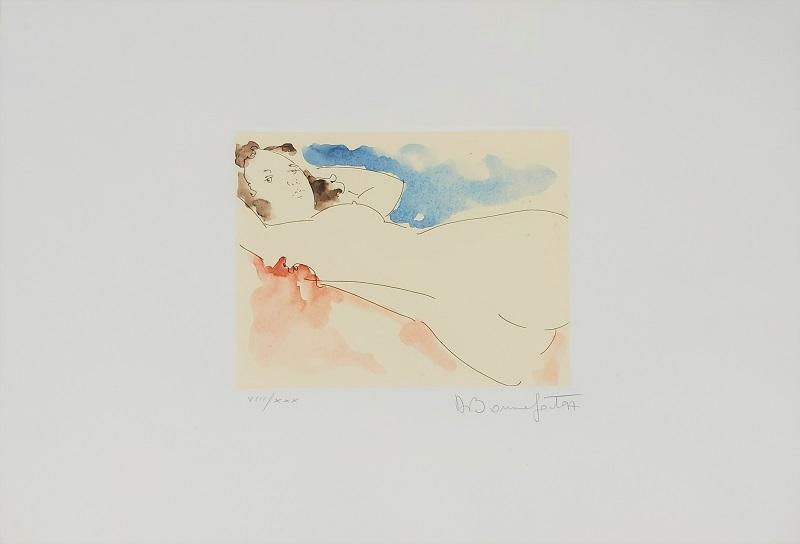 """""""Armonia"""" incisione acquerellata a mano cm. 35x50"""