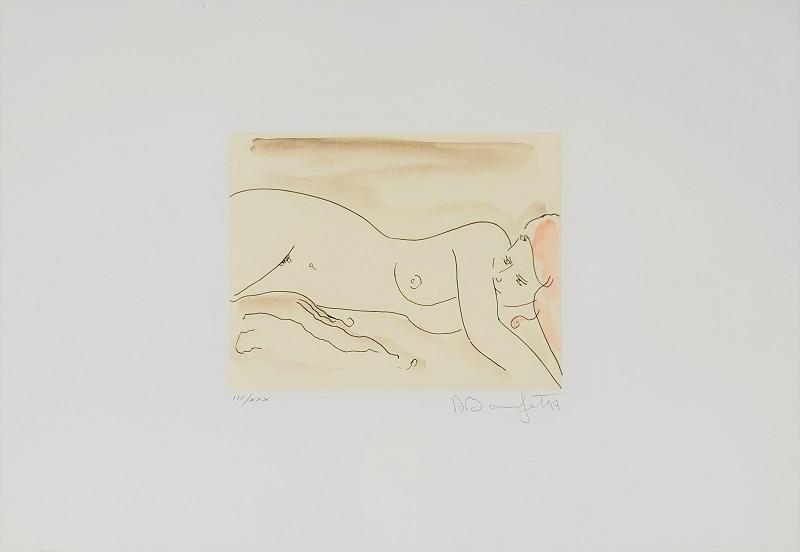"""""""Atena"""" incisione acquerellata a mano cm. 35x50"""
