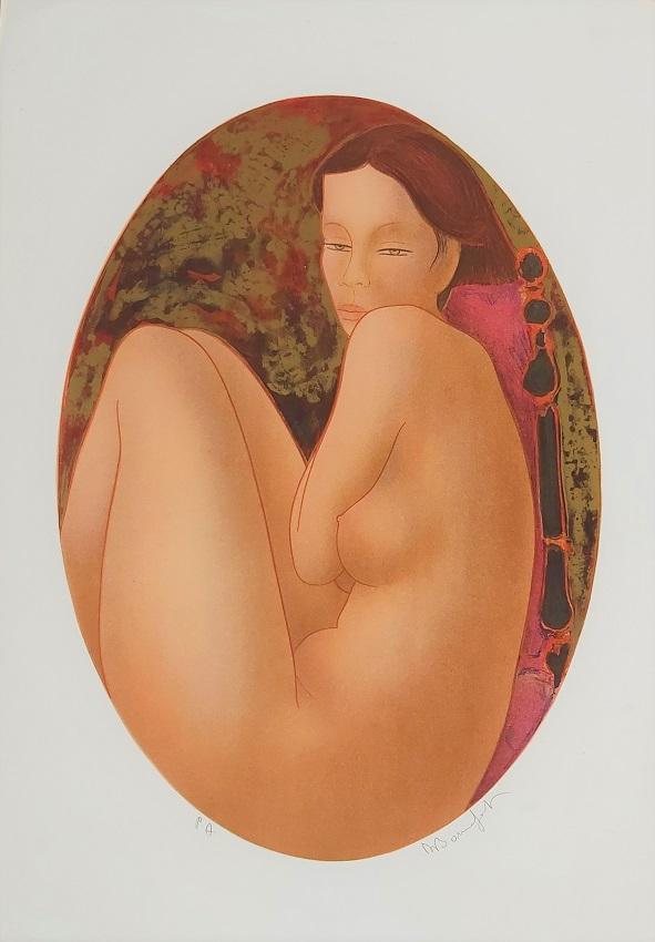 """Diva"" litografia cm. 71,5x50"